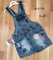 Сарафан джинсовый для девочек 4-5-6 лет