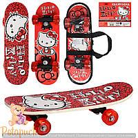 Детский деревянный скейт 0053 Китти
