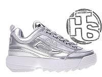 Женские кроссовки Fila Disruptor II 2 Silver Metallic