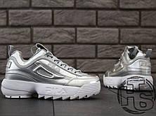 Женские кроссовки Fila Disruptor II 2 Silver Metallic, фото 3