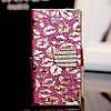 Чехол-книга для iPhone 5 5S Kisses с кристаллами
