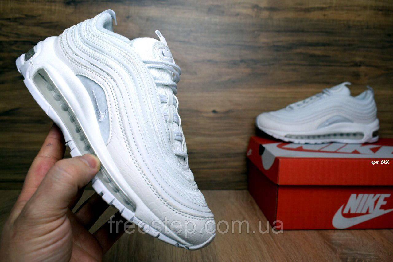 85698f504201 Женские кроссовки в стиле NIKE Air Max 97 кожа белые  продажа, цена ...