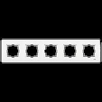 VIKO Karre рамка пятерная горизонтальная белая