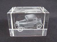 Хрустальный сувенир Автомобиль голограмма