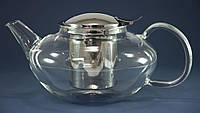 Заварочный чайник стеклянный с металлическим фильтром Wilmax Thermo 650 мл WL-888804