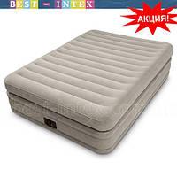 Intex 64446 (152-203-51 см.) Велюр кровать со встроенным эл насосом,