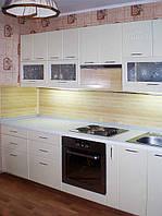 Кухня бежевая с мдф фасадами