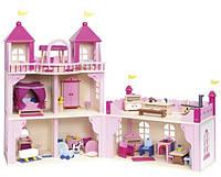Кукольный домик Замок на 2 этажа, закрывается, goki 51772G