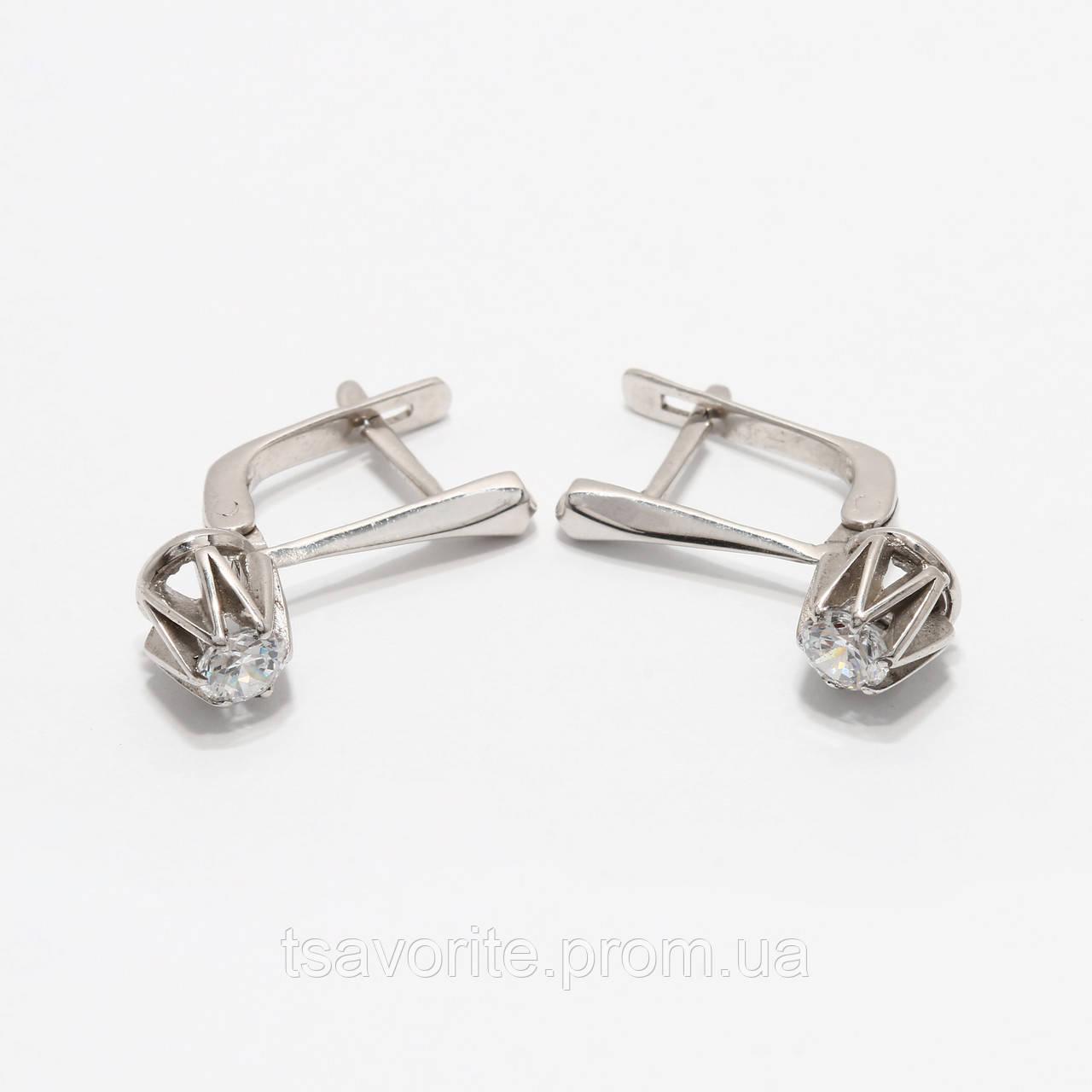 Серебряные серьги 118КН