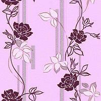 Обои бумажные Континент Милена розовая 1001