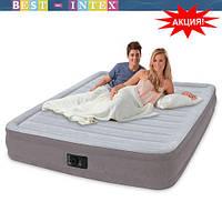 Надувная двуспальная кровать Intex 67770 (152-203-33 см.) + встроенный электронасос 220W
