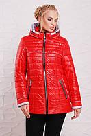 Демисезонная куртка  модель 210,  5 расцветок ( 52-64) ярко-красный