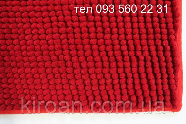 Коврик с коротким ворсом из микрофибры Лапша (макароны) 49х79см Красный, фото 2