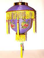 Китайский Фонарик Фиолетовый с цветами