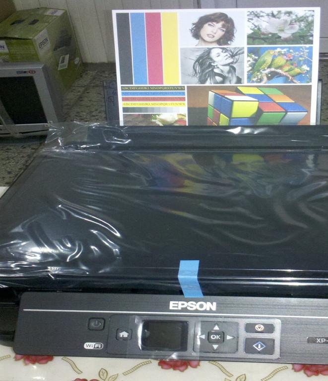 СНПЧ ColorWay XP313CC-4.1B на МФУ Epson XP-313 - вот так он печатает!