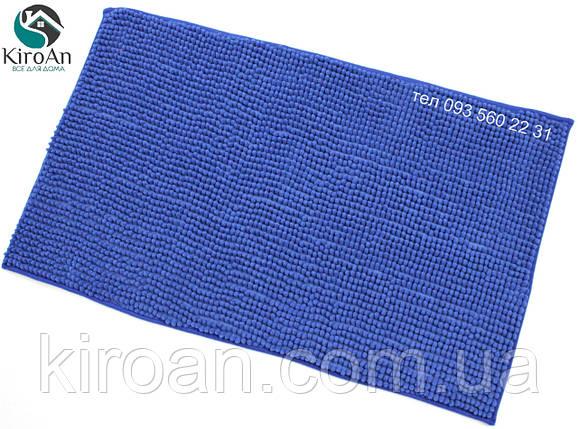 Коврик с коротким ворсом из микрофибры Лапша (макароны) 49х79см Синий, фото 2