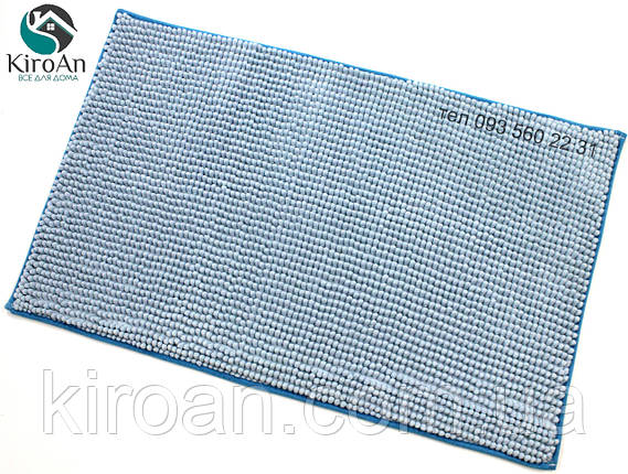 Коврик с коротким ворсом из микрофибры Лапша (макароны) 49х79см Голубой, фото 2