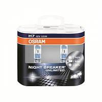 К-кт 2шт галогенная автолампа Osram H7 Original Night Breaker Unlimited Duobox +110% (64210 NBU HCB DUO BOX)