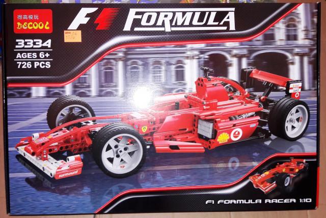 Конструктор Decool 3334 Technic Formula 1 Ferrari Скудерия 1:10, 726 дет