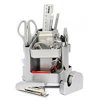 Набор настольный пластиковый 16 предметов Skiper Sk-802BA (блистер) серебристый