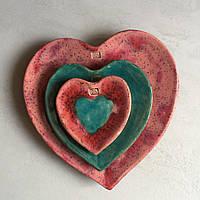 Блюдца в форме Сердца. Авторская работа., фото 1
