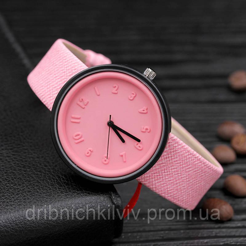 Стильные женские часы.  Розовые (Код 053)