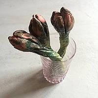 Керамические тюльпаны. Нежные цветы застывшие в камне. Авторская работа.