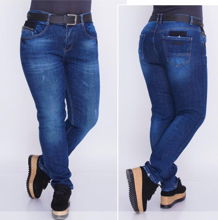 Стильные женские джинсы большого размера от ТМ Minova прямой поставщик Одесса официальный сайт (р. 29-34 )