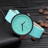 Стильные женские часы.  Мятные (Код 053)