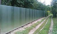 Забор из профнастила ( 0,4 мм , оцинкованный )