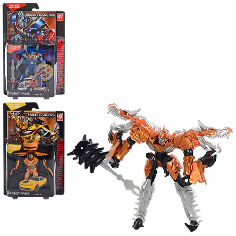 Трансформер DY-6821 3 види (робот+дракон, робот+машинка), лист, 41-26-6 см.
