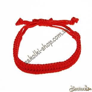 Браслет красная нить плетеный двухрядный