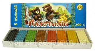 Пластилин школьный  8 цветов Тетрада/64