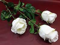 Цветы искусственные Роза белая 70см