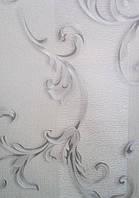 Обои Lanita на бумажной основе Валентино декор  112-0184 бело-серый 0,53х10,05м