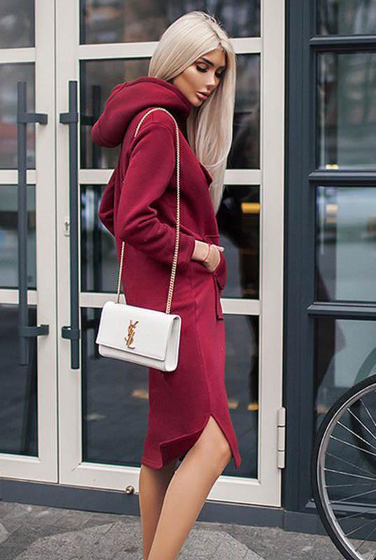 Бордовое платье  -ЖЕНЕВА -