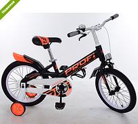 Велосипед двухколёсный детский 14 дюймов Profi Original W14115-4 черный ***