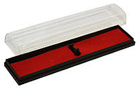 Футляр пластиковый для 1й ручки, 16см, прямоугольный, красная подложка, Josef Otten