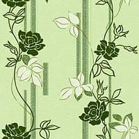 Обои бумажные Континент Милена зеленая 1046