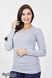Лонгслив для беременных и кормящих CAROLINE 11.18.012 серый 46 размер, фото 2