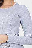 Лонгслив для беременных и кормящих CAROLINE 11.18.012 серый 46 размер, фото 6