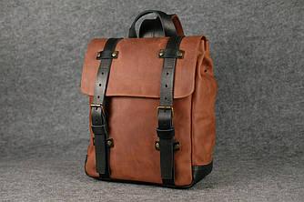 Мужской рюкзак HANKLE H1  13203  Коньяк + Черный