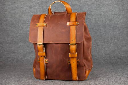 Мужской рюкзак HANKLE H1  13204  Коньяк + Янтарь