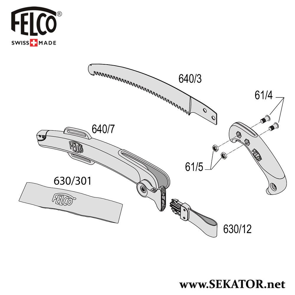 Змінні деталі до пили Felco 640