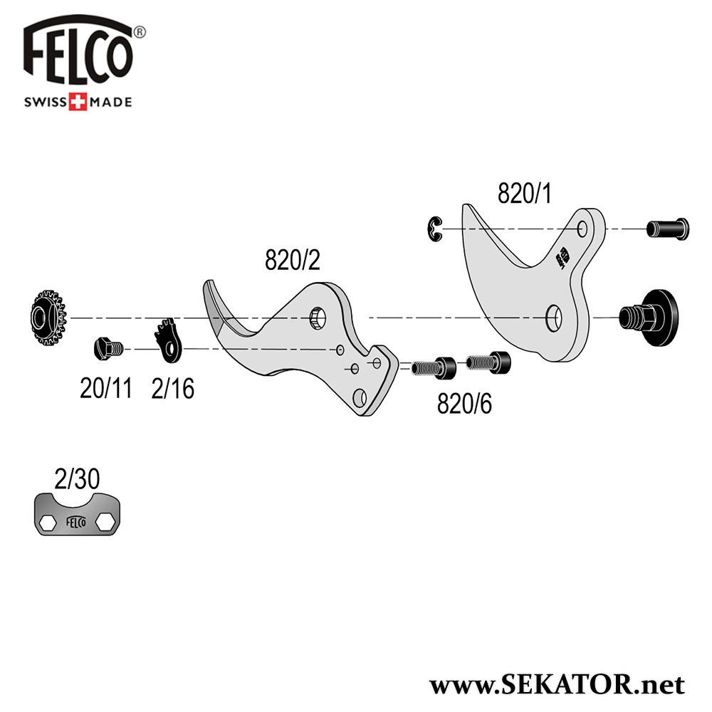 Змінні деталі до секатора Felco 820
