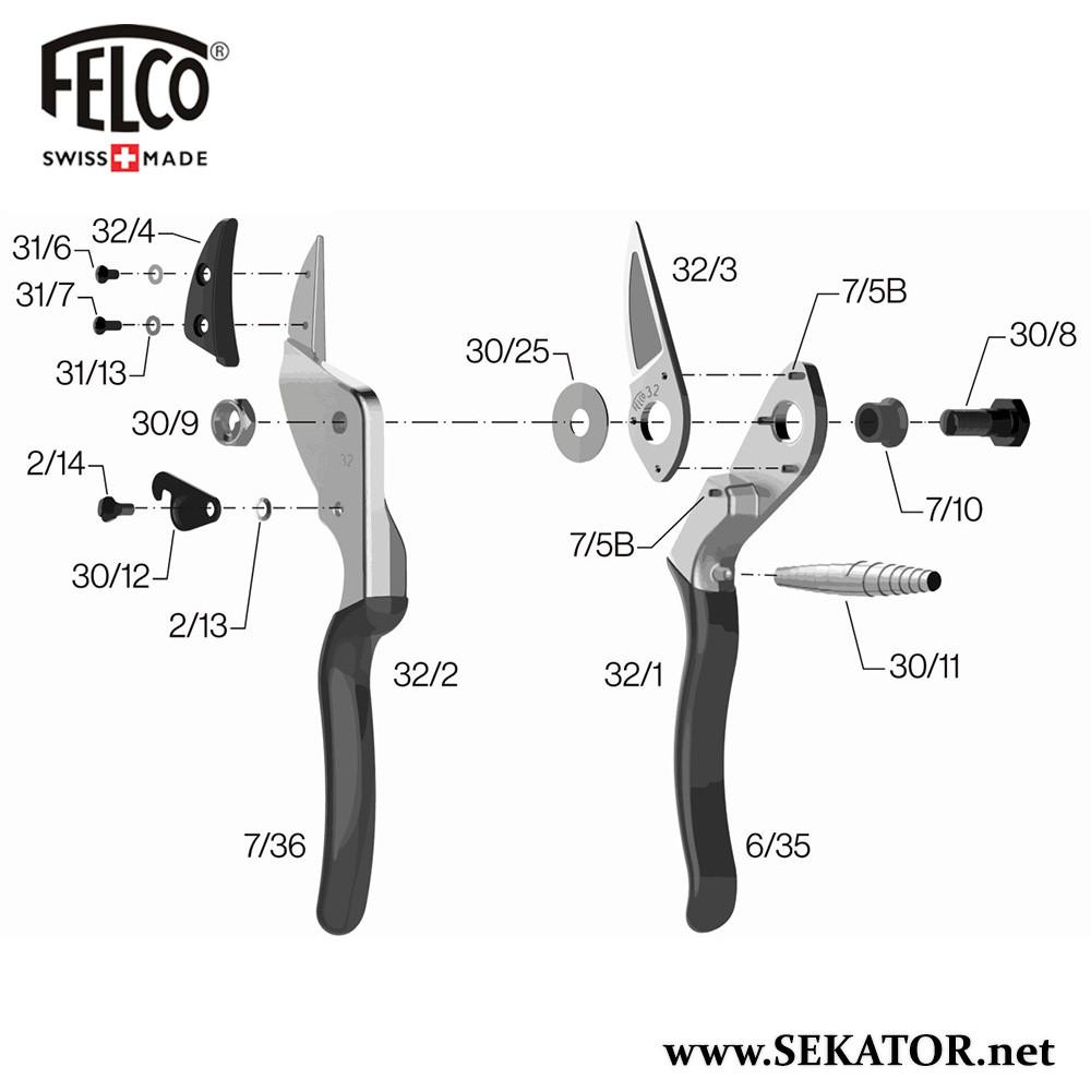 Змінні деталі до секатора Felco 32