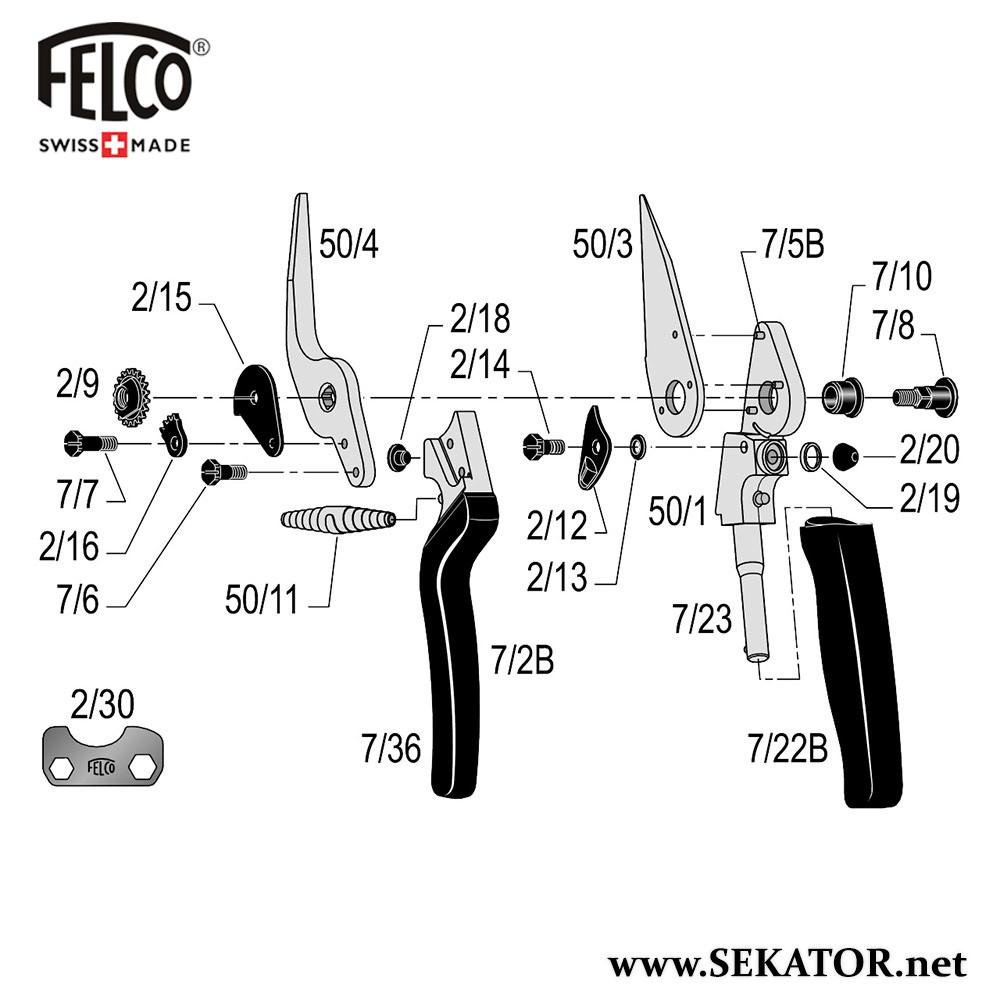 Змінні деталі до секатора Felco 50