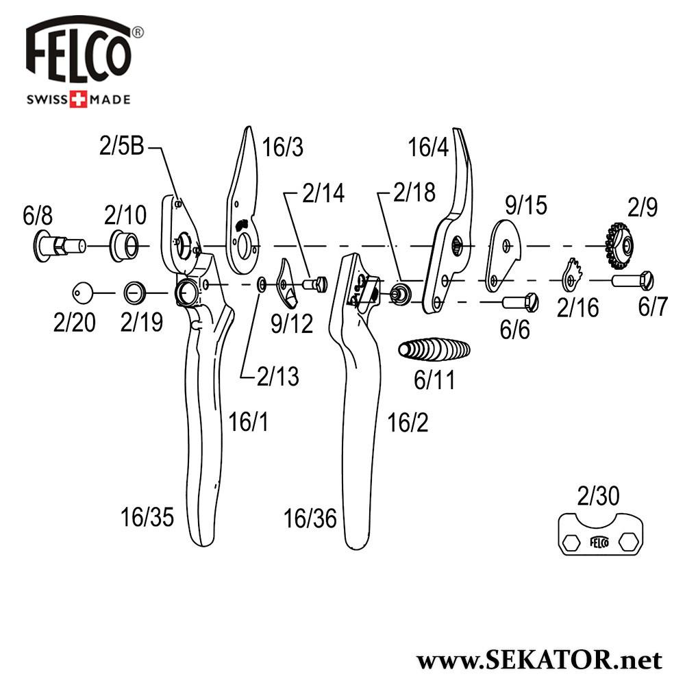 Змінні деталі до секатора Felco 16