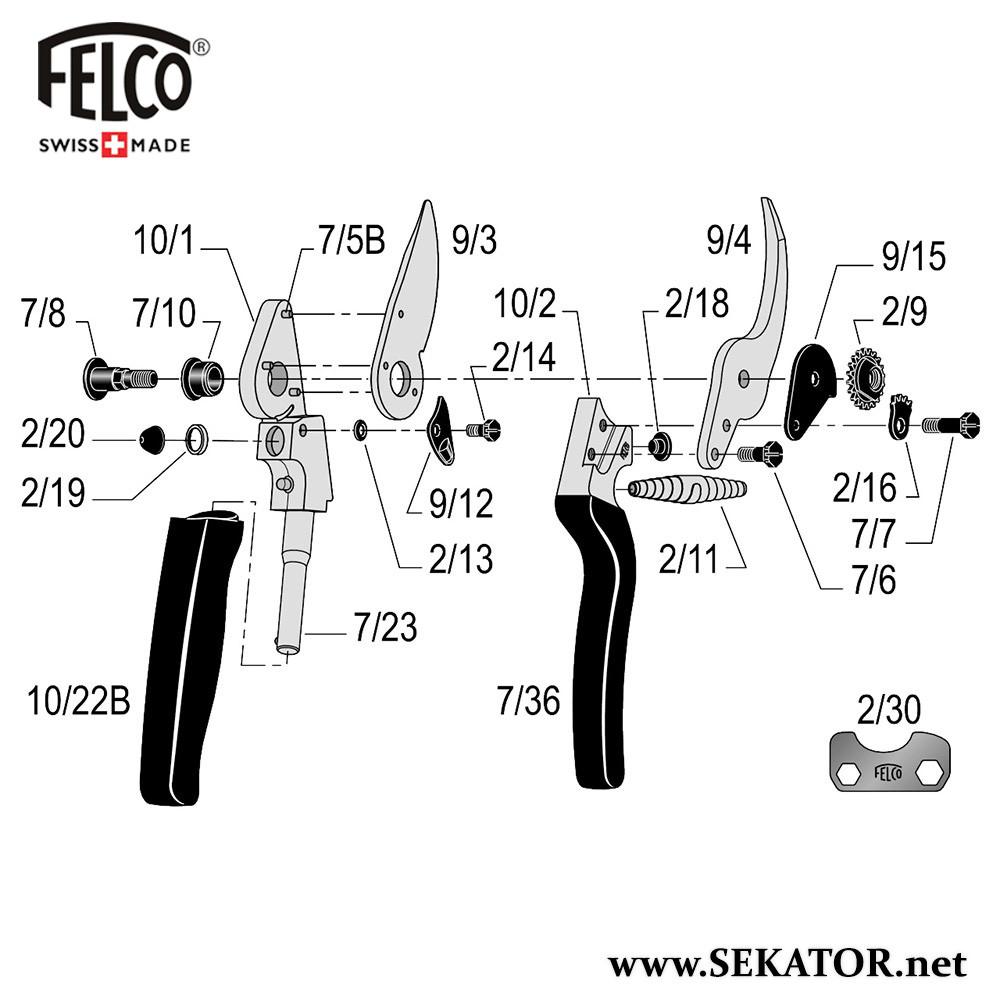 Змінні деталі до секатора Felco 10