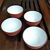 Пиала чайная глиняная с белой глазурью для чайной церемонии (посуда и аксессуары для чая)